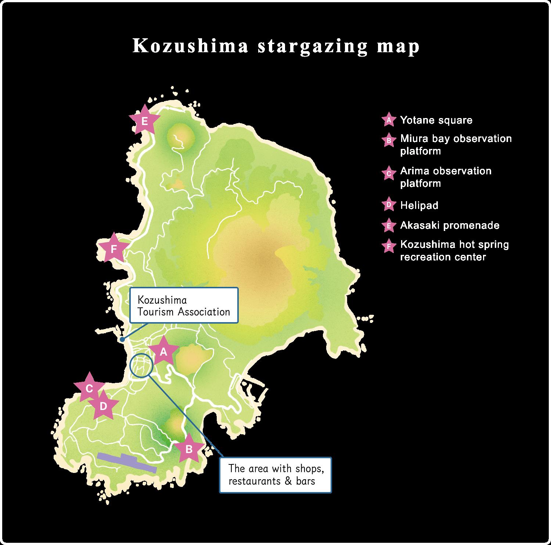 Kozushima stargazing map